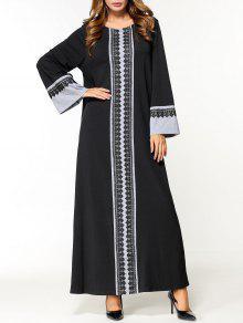 فستان عربي دانتيل - أسود M