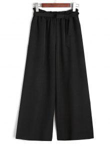 Noveno Cinturón Con Volantes Pantalones De Pierna Ancha - Negro L