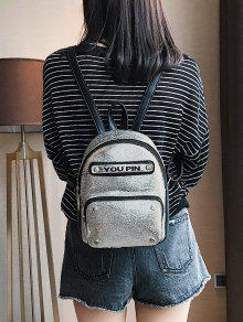 Letter Glitter Backpack