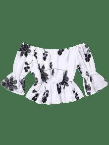 Floral Funda Bordado Blazer Xl Blanco qnqwCfExP
