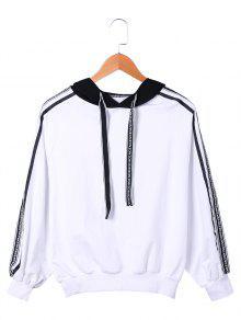 Sweat Capuche Noir Et Blanc à Corde - Blanc Et Noir L