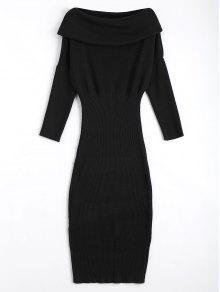 Chevauchement De La Robe De Soirée - Noir