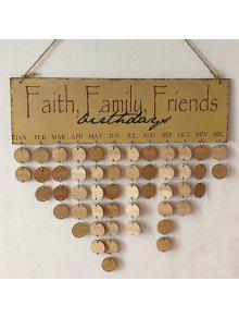 جدول الخشب طباعة ب Family And Friends Birthdays - مستدير - كروي