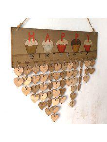 جدول الخشب طباعة ب Family And Friends Birthdays - قلب