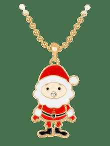 Christmas santa rhinestone beaded chain necklace red necklaces zaful christmas santa rhinestone beaded chain necklace aloadofball Image collections