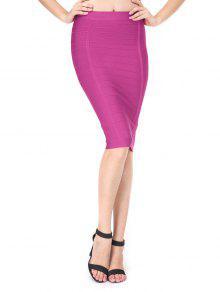 Jupe De Taille Haute Taille - Violet Rose L