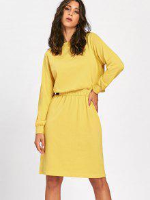 Long Sleeve Jersey Dress YELLOW: Long Sleeve Dresses XL | ZAFUL