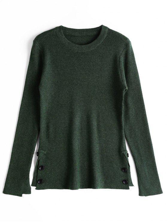 Suéter Abotonado Abierto - Verde negruzco Única Talla