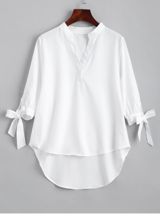 Arco manga empatada alta Low blusa - Blanco XL