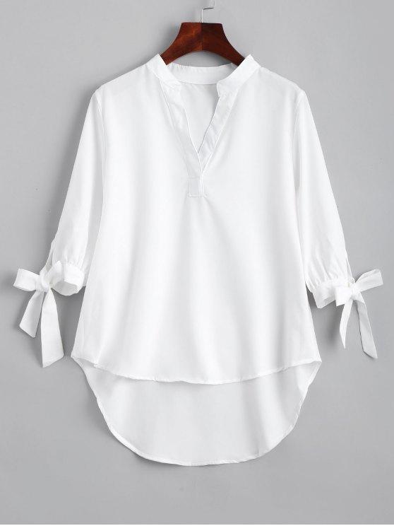 Arco manga empatada alta Low blusa - Blanco S
