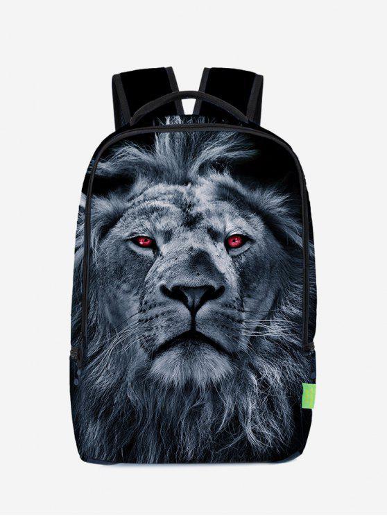 3D حقيبة الظهر طباعة الأسد - ازرق غامق