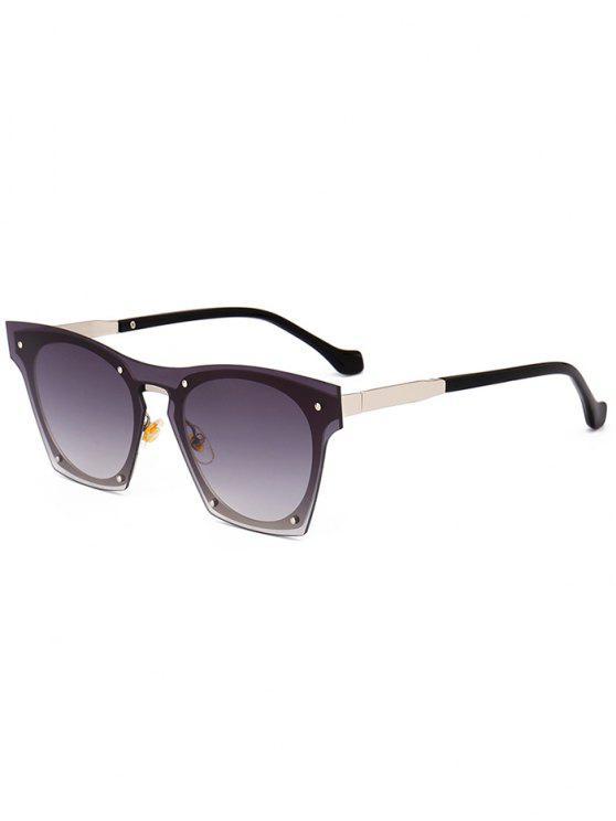 Anti UV Metallic Frame Pilot Óculos de sol - Preto