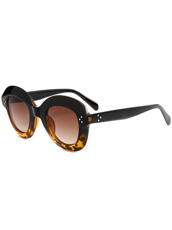 best Full Rim Oval Sunglasses - LEOPARD+DARK BROWN