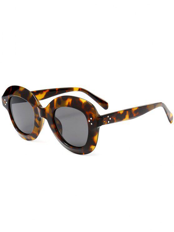 Full Rim Oval Óculos de sol - Padrão de Impressão de Leopardo