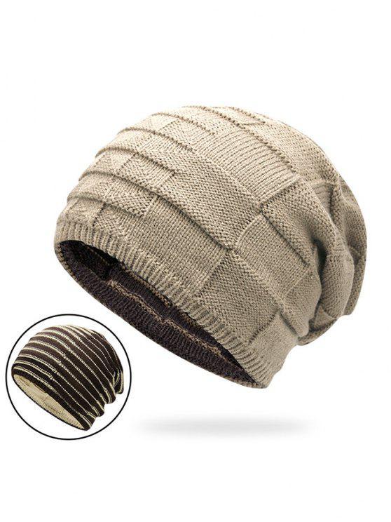 Chapeau En Tricot Réversible En Couleur - Palomino
