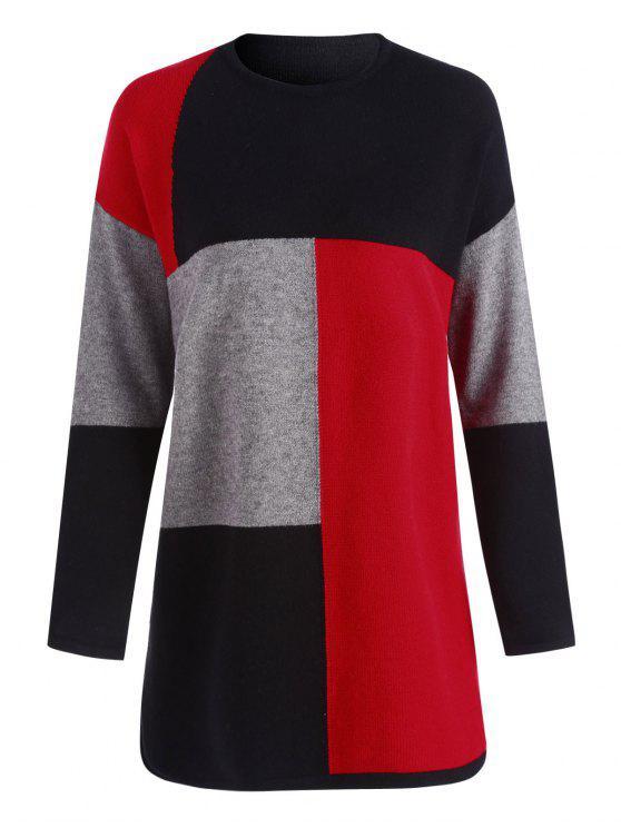 Robe longue taille à manches longues - Multicouleur Taille Unique