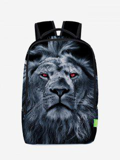 Lion 3D Print Backpack - Deep Blue
