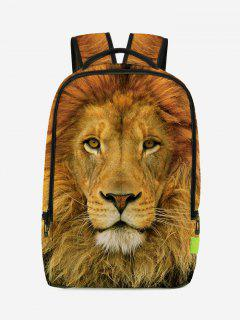 Lion 3D Print Backpack - Light Brown