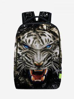 Lion 3D Print Backpack - Black