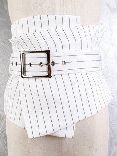 Big Pin Buckle High Waist Corset Belt - Stripe