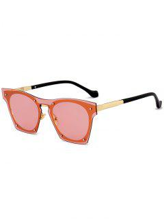 Anti UV Metallic Frame Pilot Sunglasses - Orange