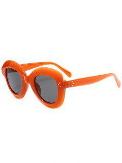 Full Rim Oval Sunglasses - Orange