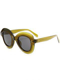 Full Rim Oval Sunglasses - Grass Green