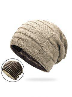 Sombrero De Punto Reversible De Color De Bloque  - Palomino