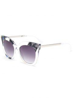 Color Pieces Butterfly Sunglasses - Gray