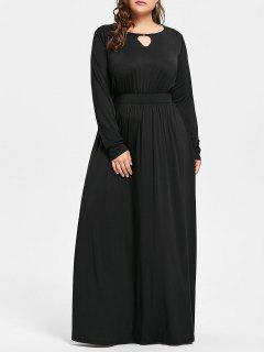 Plus Size Keyhole Maxi Dress - Black Xl