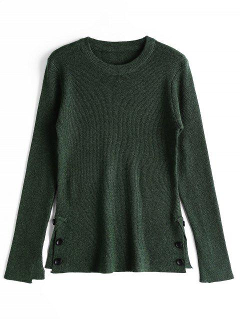 Suéter Abotonado Abierto - Verde negruzco Única Talla Mobile