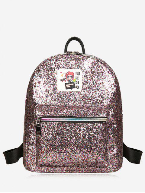 chic Zipper Glitter Backpack - COLORFUL  Mobile