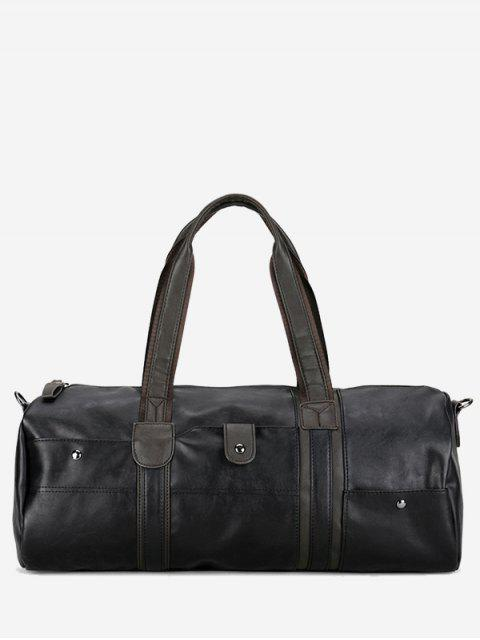 best Faux Leather Weekend Bag - BLACK  Mobile