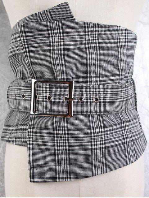 best Big Pin Buckle High Waist Corset Belt - CHECKED  Mobile