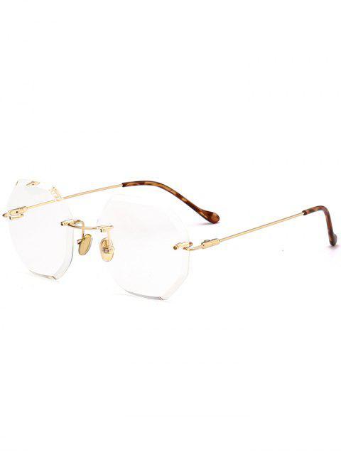 Runde Sechsecke Farbverlauf Randlose Sonnenbrille - Transparent  Mobile