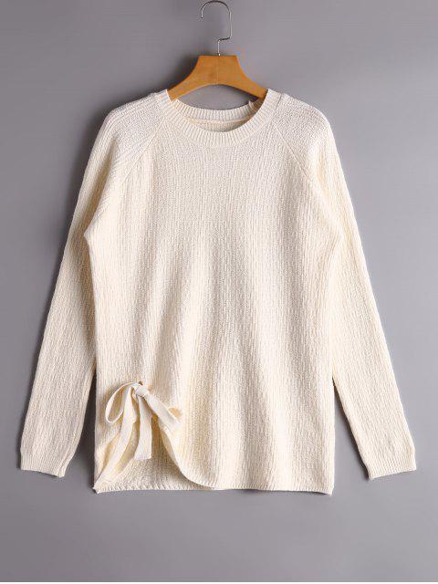 Pullover mit Raglan-Ärmel und Verband - Weiß Eine Größe Mobile
