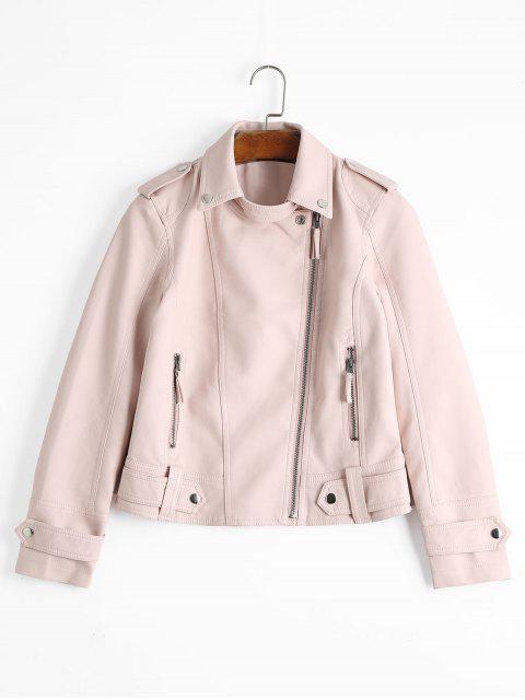 Chaqueta de cuero sintético con bolsillos con cremallera - Rosa Luz M Mobile