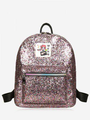 Zipper Glitter Backpack