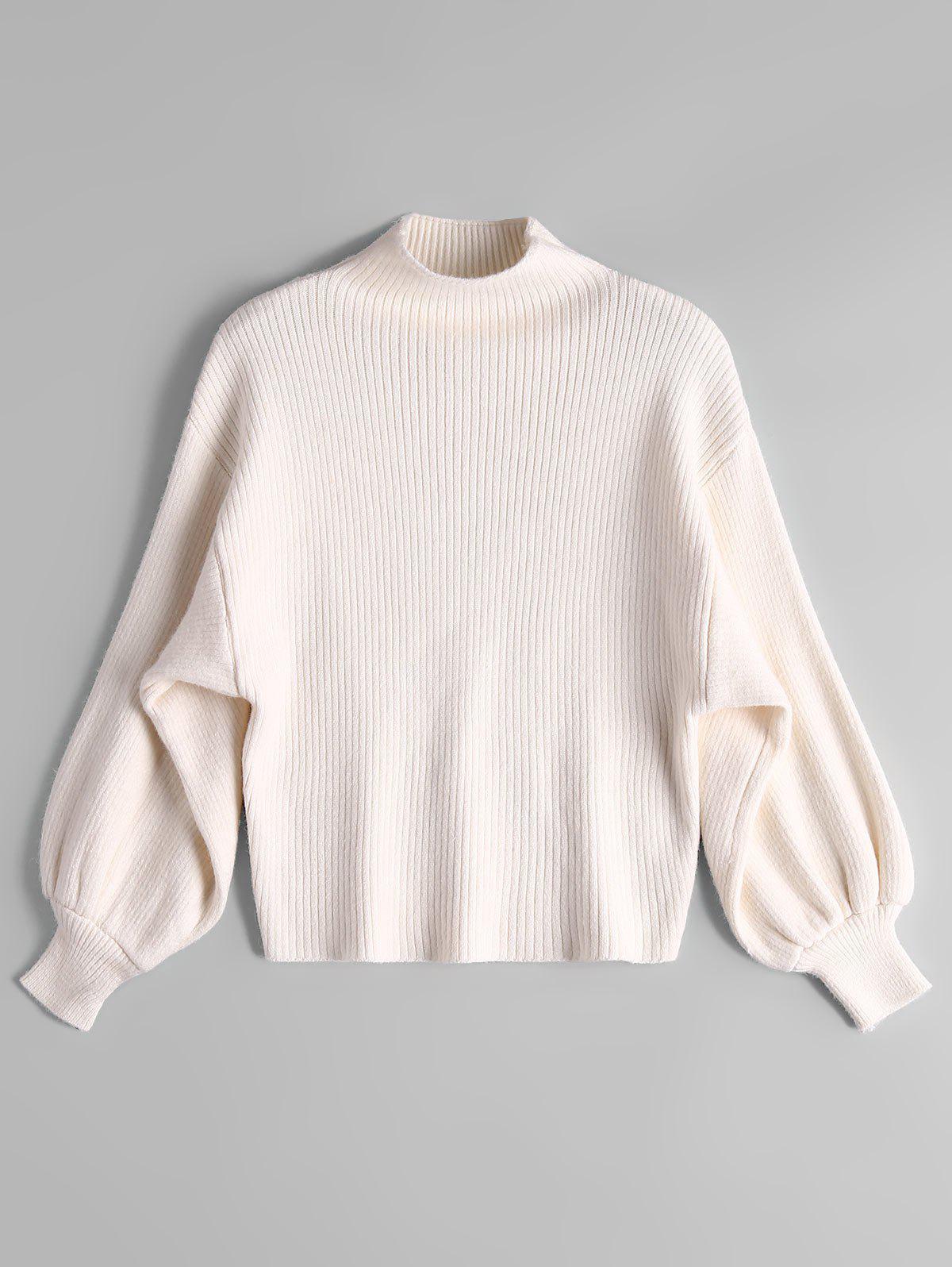 Lantern Sleeve Mock Neck Sweater фото