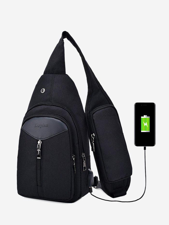 Headphone Hole USB Charging Port Chest Bag