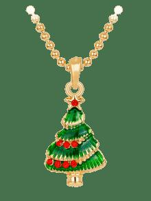 Star faux crystals christmas tree necklace green necklaces zaful star faux crystals christmas tree necklace aloadofball Image collections