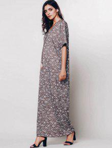 Caf Vestido Flores Cuerpo 250;sculos Relajador L Maxi 233; De Min Al pAqwS