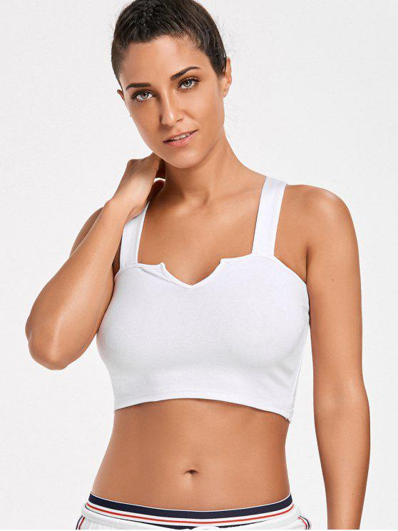 women's Casual Straps Crop Top - WHITE S