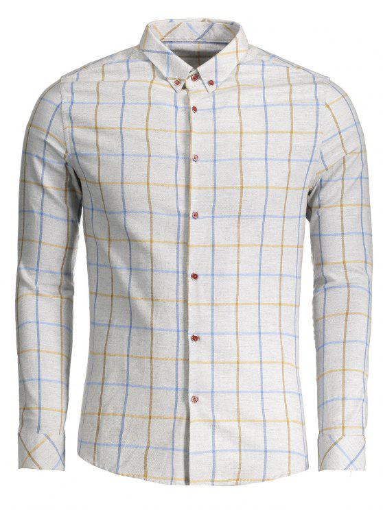 Camisa con franela de franela - Gris Claro 2XL