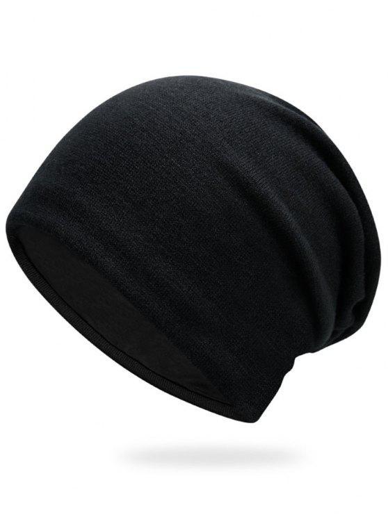 Cappello a maglia normale di autunno - Nero