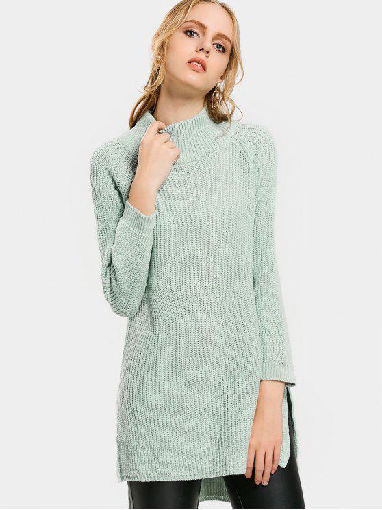Hoher Niedriger Pullover mit hohem Ausschnitt und Seitlichem Ausschnitt - frisch Eine Größe
