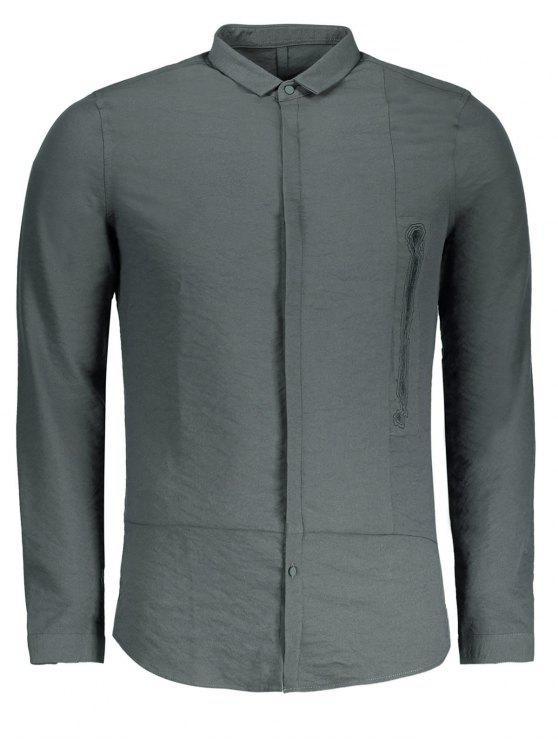 Camisa gráfica para hombre - Gris Carbón XL