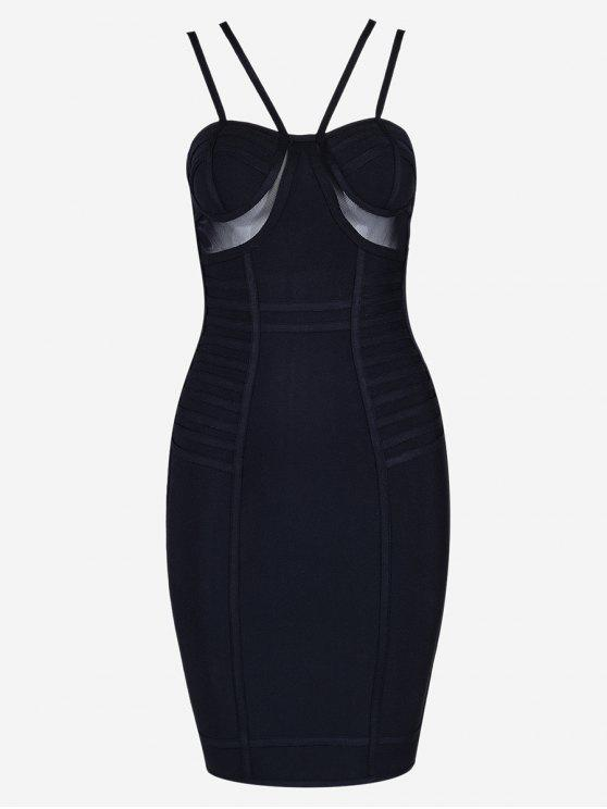 outfit Mesh Panel Cami Bandage Dress - BLACK M