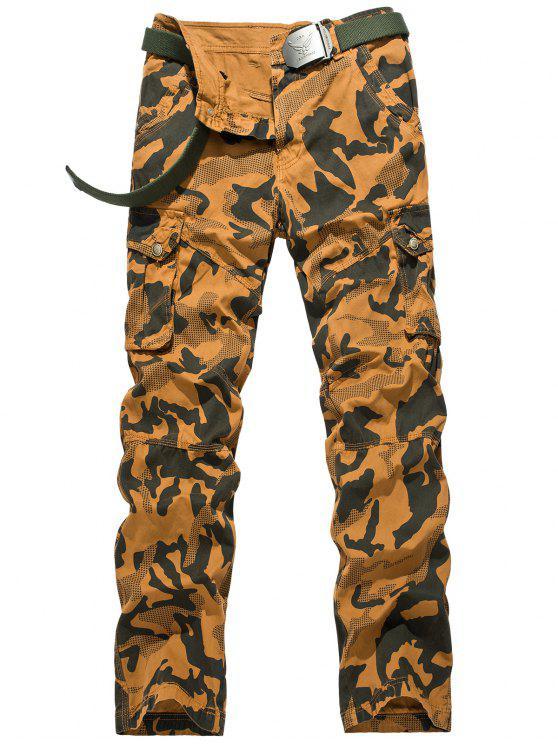 Pantalon Cargo Camouflage Braguette à Glissière - Terreux 36