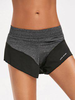 Sporty Double Layered Shorts - Gray S
